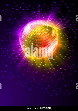 Soirée disco, verre, calice, tumbler, divertissement, musique, art, maison de vacances, couleur, Banque D'Images