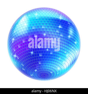 Soirée disco, bleu, verre, calice, tumbler, divertissement, musique, art, maison de vacances, Banque D'Images