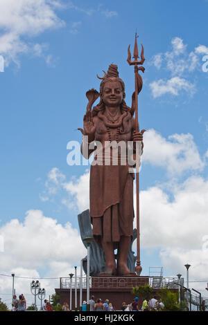 Statue géante de Shiva à Grand Bassin, Ile Maurice. Banque D'Images