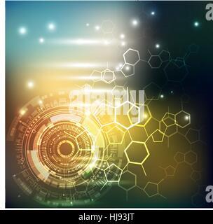 Sci fi futuristic interface utilisateur. abstract pattern hexagonal. Nouveau concept de technologies futures. Banque D'Images