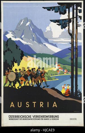 Autriche - Vintage travel poster 1920 1940 Banque D'Images