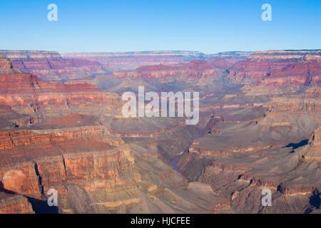 Rive Sud, le Parc National du Grand Canyon, UNESCO World Heritage Site, Arizona, USA Banque D'Images