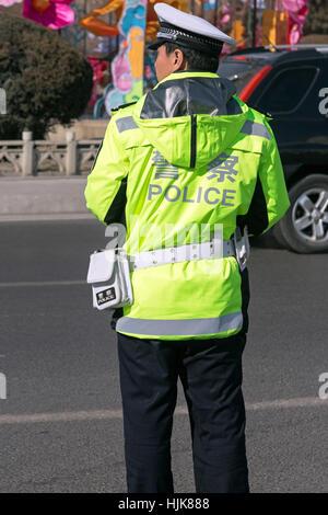 La police de la circulation, Yinchuan, Ningxia Province, China