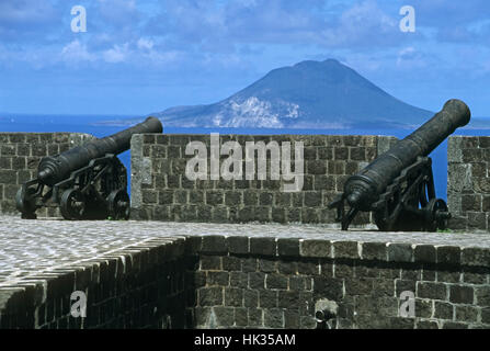 La forteresse de Brimstone Hill St Kitts Caribbean Banque D'Images