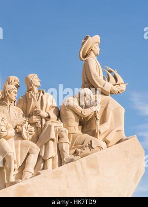 Monument des Découvertes du Nouveau Monde à Belém, Lisbonne, Portugal. Banque D'Images