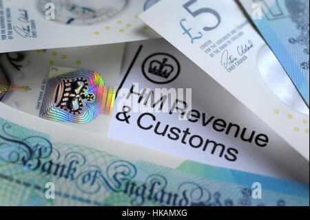 HM Revenue and Customs, AVEC LA TÊTE DE LETTRE D'ARGENT DE L'IMPÔT SUR LE REVENU TAXES HMRC SALAIRES ANNÉE FORMULAIRE D'AUTO-ÉVALUATION UK ÉVITEMENT