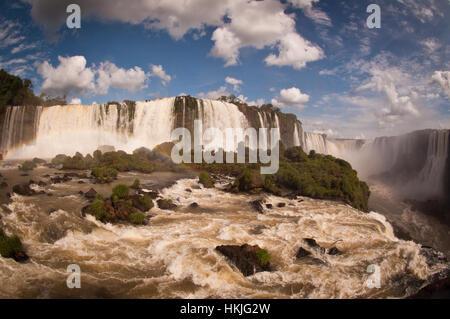Brésil, Cataratas do Iguaçu, Gorge du Diable Banque D'Images
