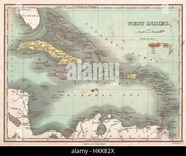 1827 Finley Site des Antilles, des Caraïbes, et Antilles - Geographicus - WestIndies-finley-1827
