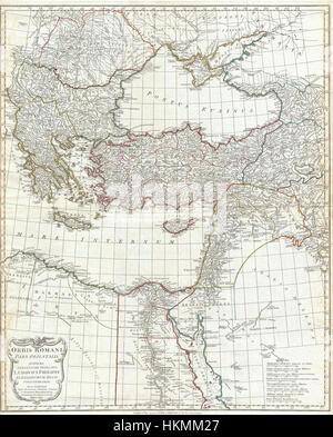 1794 Anville Site de l'Empire romain (inclues) - Grèce - Geographicus-RomanEmpireEast anville-1794 Banque D'Images