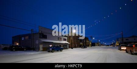 La rue Front, à Nome en Alaska en 2017. La ruée vers l'or de Nome a été une ruée vers l'or de Nome, en Alaska, environ Banque D'Images