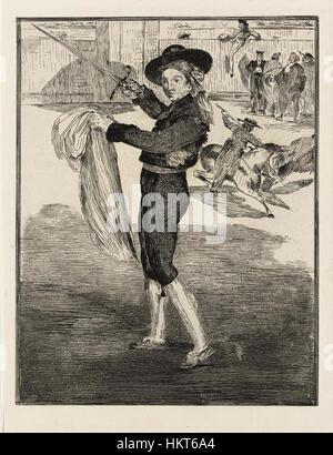 Edouard Manet (1832-1883) - Victorine Meurand en costume d'Espada Banque D'Images