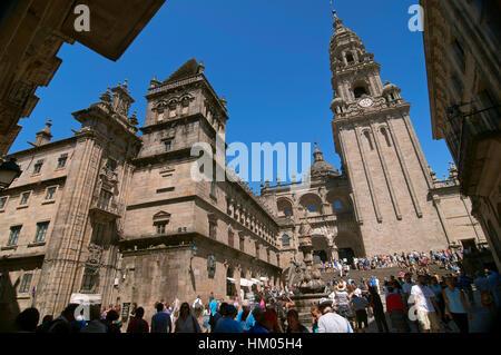 Cathédrale, Saint Jacques de Compostelle, La Corogne province, région de la Galice, Espagne, Europe