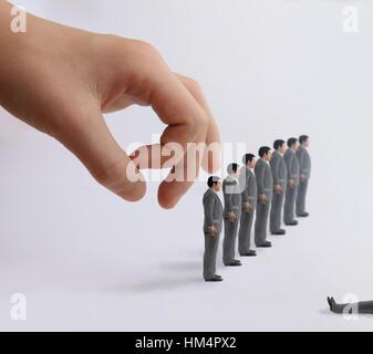 La décision du personnel optimise Banque D'Images
