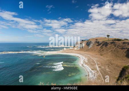 Vue sur la côte de la péninsule de Kaikoura Kaikoura Promenade de la péninsule, Kaikoura, Canterbury, Nouvelle-Zélande Banque D'Images