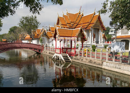 Wat Benchamabophit le Dusitvanaram en temple, Bangkok, Thailande, Asie Banque D'Images