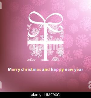 Modèle de carte de Noël. + fichier vectoriel EPS8 Banque D'Images