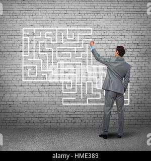 La recherche de solutions Banque D'Images