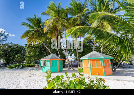 Worthing Beach, Worthing, Christ Church, Barbade, Antilles, Caraïbes, Amérique Centrale Banque D'Images
