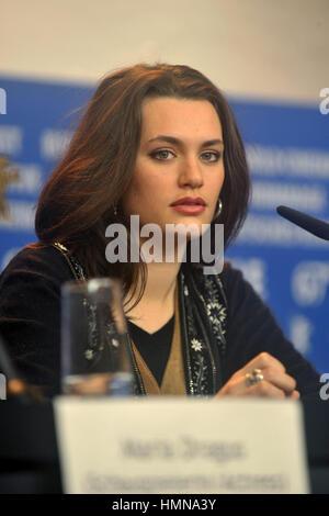 Berlin, Allemagne. 10 fév, 2017. L'actrice Ella Rumpf assiste à la 'fille Tiger' conférence de presse au cours de Banque D'Images