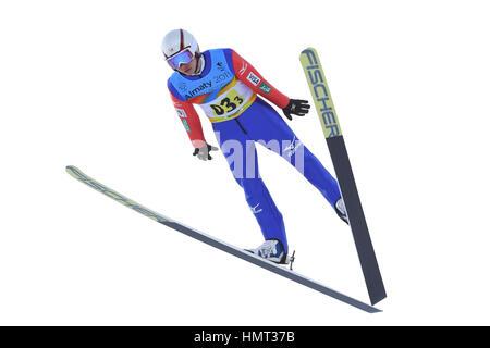Sunkar Saut à ski international complexe, Almaty, Kazakhstan. Feb, 2017 5. Rendez Yamamoto (JPN), 5 février 2017 Banque D'Images