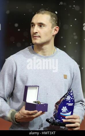 Moscou, Russie. Feb, 2017 5. Au cours de la Russie Alexander Yurchenko la victoire à la 26e cérémonie d'hiver russe Banque D'Images