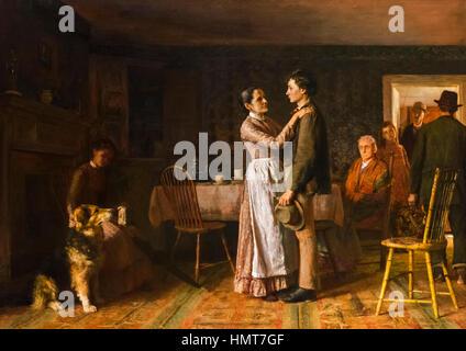 Liens Accueil Rupture par Thomas Hovenden (1840-1895), huile sur toile, 1890 Banque D'Images