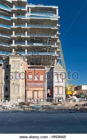 Le contraste de l'ancien et le nouveau bâtiment à Washington, District de Columbia. Banque D'Images