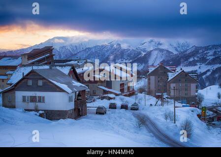 Gudauri Ski Resort et Village Banque D'Images