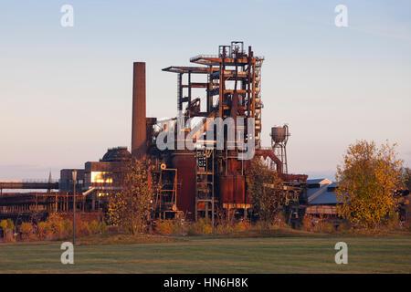 Ancienne aciérie Phoenix-West, fourneau, monument industriel, Dortmund, Hörde, Ruhr, Rhénanie du Nord-Westphalie, Banque D'Images