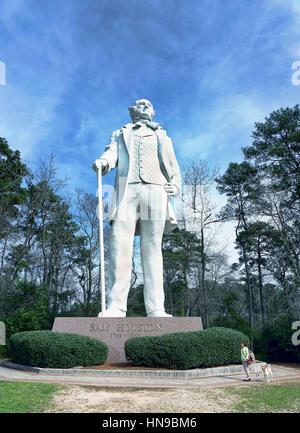 Huntsville, Texas - Feb.7,2017 Statue de Sam Houston Texas plus de 70 pieds de haut Octobre22,1994 dédié. Banque D'Images