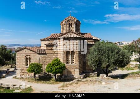 L'église grecque-orthodoxe byzantin, l'ancienne Agora, Athènes, Grèce