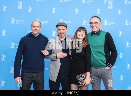 Berlin, Allemagne. 10 fév, 2017. Les créateurs du film britannique 'T2 Trainspotting' poser pour des photos à un Banque D'Images