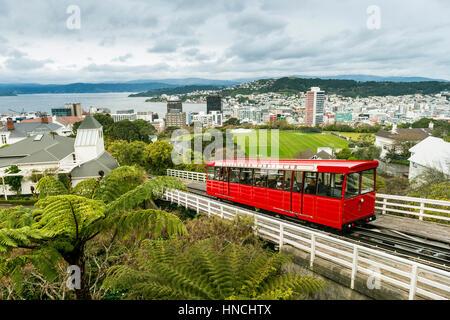 Chemin de fer à crémaillère historique, Funiculaire de Wellington, Wellington, North Island, New Zealand Banque D'Images