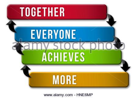 Stratégie d'équipe - ensemble tout le monde obtient plus Banque D'Images