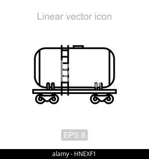 Réservoir de fer. Icône vecteur linéaire. Banque D'Images