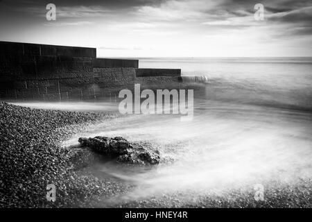 Lyme Regis en noir et blanc Banque D'Images