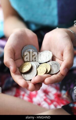 Close up image of Australian coins Banque D'Images