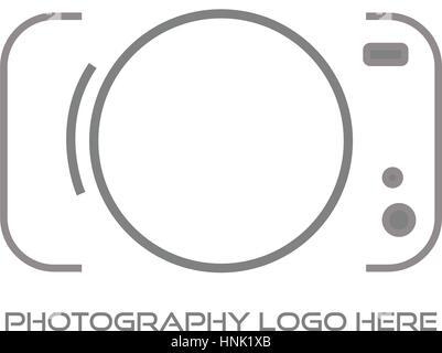 Photographe / Photographie Logo Design Banque D'Images