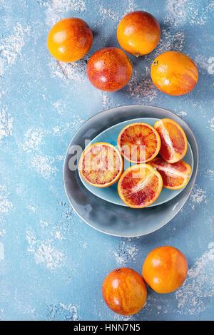 Fruits oranges sanguines de Sicile Banque D'Images