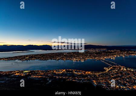 Tromso, Norvège arctique en automne Banque D'Images