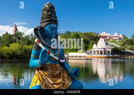 Statue de Shiva Ganga Talao Lake, Grand Bassin, Ile Maurice Banque D'Images