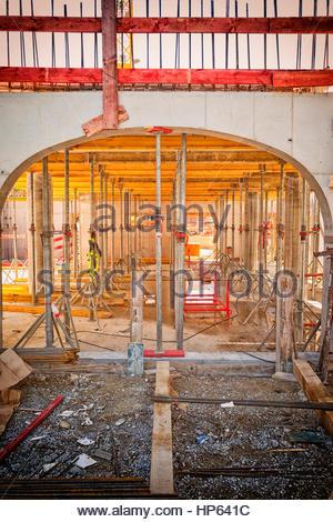 Bâtiment de construction de toit support d'échafaudage Banque D'Images