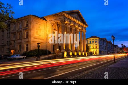 Le bâtiment du théâtre à Meiningen, Allemagne Banque D'Images