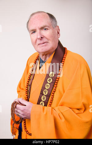 Portrait d'un prêtre bouddhiste Banque D'Images