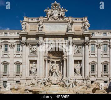 La fontaine de Trevi ou la fontaine de Trevi, Rome, Latium, Italie, Europe Banque D'Images