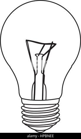 La figure de droit de l'ampoule Banque D'Images