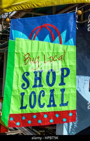 Key Largo Floride La Floride Keys shopping inscription acheter local boutique Banque D'Images