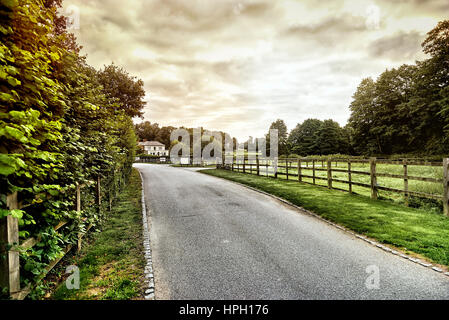 Belle campagne anglaise. Paysage magnifique paysage de la campagne anglaise au lever du soleil en été. English country Banque D'Images