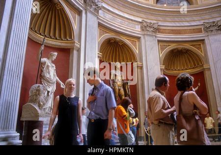 Musées du Vatican, le Vatican, Rome, Italie Banque D'Images