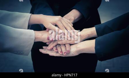 La solidarité d'équipe de l'équipe Concept de collaboration Banque D'Images